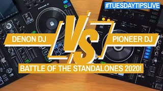 Denon DJ vs Pioneer DJ - Battle of the Standalone Gear #TuesdayTipsLive