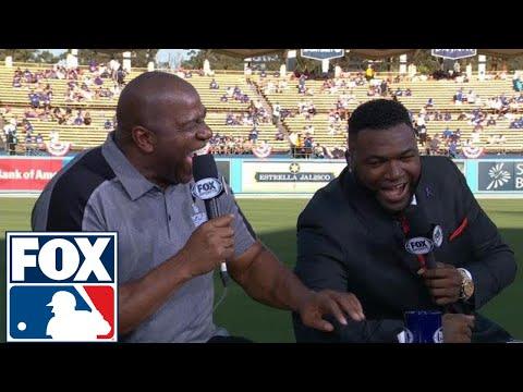 Magic Johnson joins the FOX MLB Crew before Game 2 of the World Series | 2017 MLB Playoffs | FOX MLB