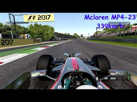 F1 2017 @Monza Top Speed Classic Car Reveal