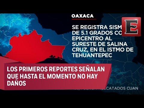 LO ÚLTIMO: Sismo de magnitud 5.1 en Salina Cruz, Oaxaca