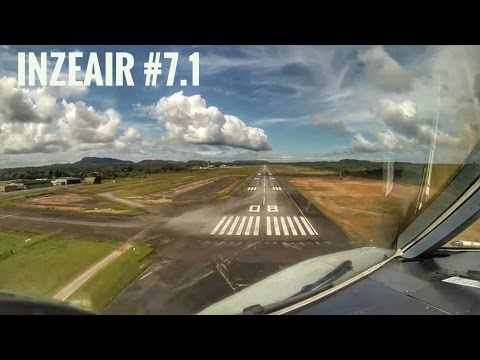 INZEAIR #7.1 - LANDING RUNWAY 08 AT CAYENNE IN A340 COCKPIT WITH SUBTITLES