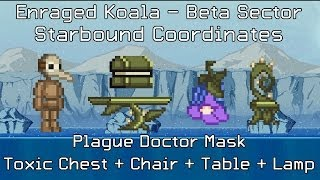 Starbound Coordinates [Beta]: Plague Doctor Mask, Toxic Chest + Chair + Table + Lamp