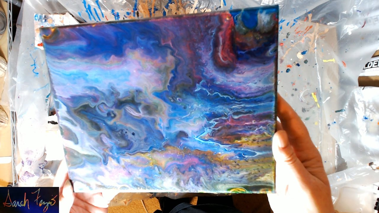 Pouring A Painting Using Liquitex Gloss Gel Vqa For Jamie