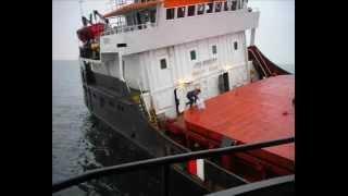 Wreck of the ship BERIL in Pacific Ocean