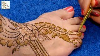 होली स्पेशल मेहँदी डिज़ाइन / Holi Special Mehndi Design for Legs @ ekunji #117 मेहँदी डिज़ाइन