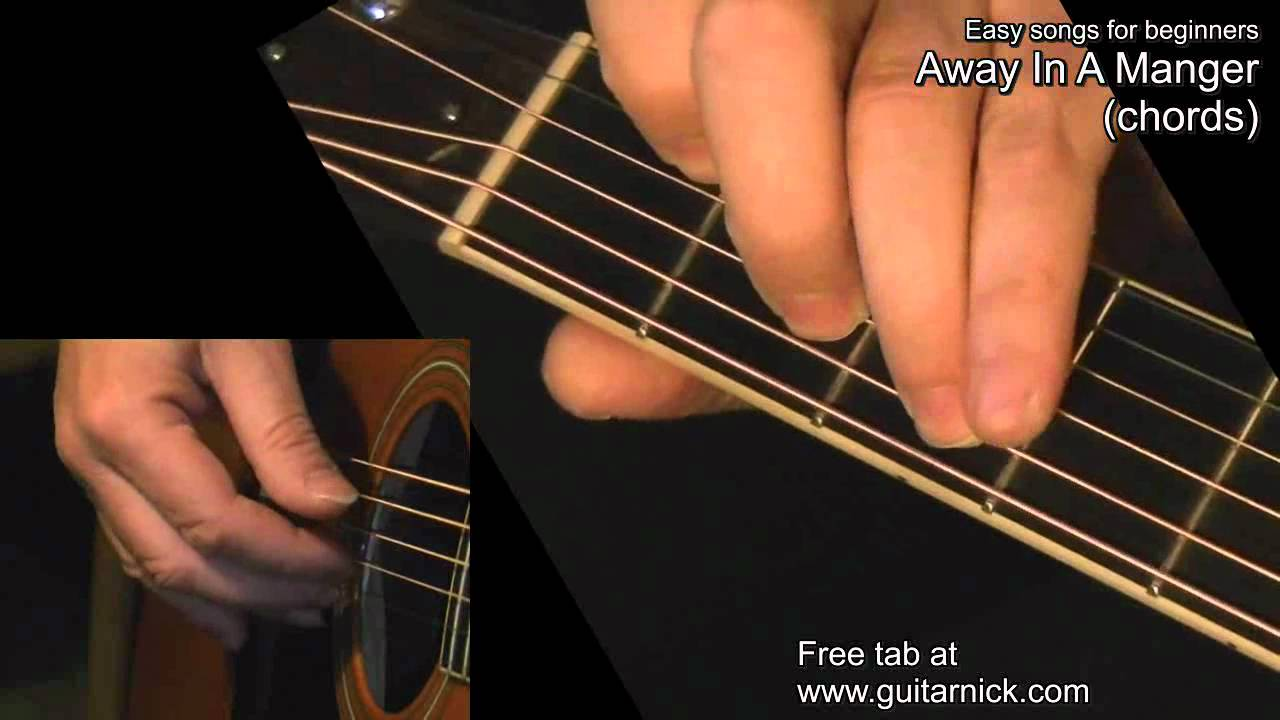 Away In A Manger Chords Guitar Lesson Tab By Guitarnick Youtube