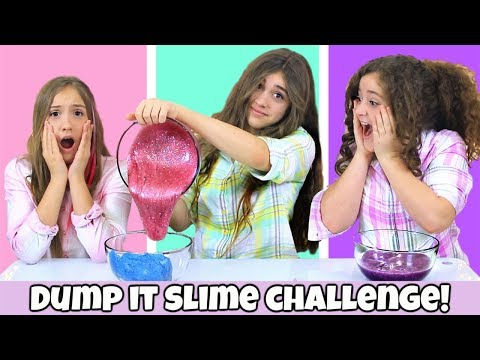 Dump It Slime Challenge - Valentines Slime Edition!