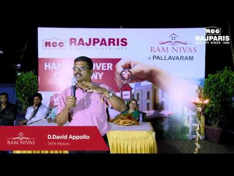 RAJPARIS Ramnivas Pallavaram Customer Testimonial - D.David Appollo Pasangha( TATA Motors)