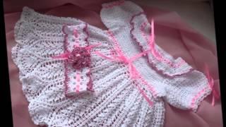 Романтичное ажурное крестильное платье    Вязание для девочки(, 2015-03-29T12:57:19.000Z)