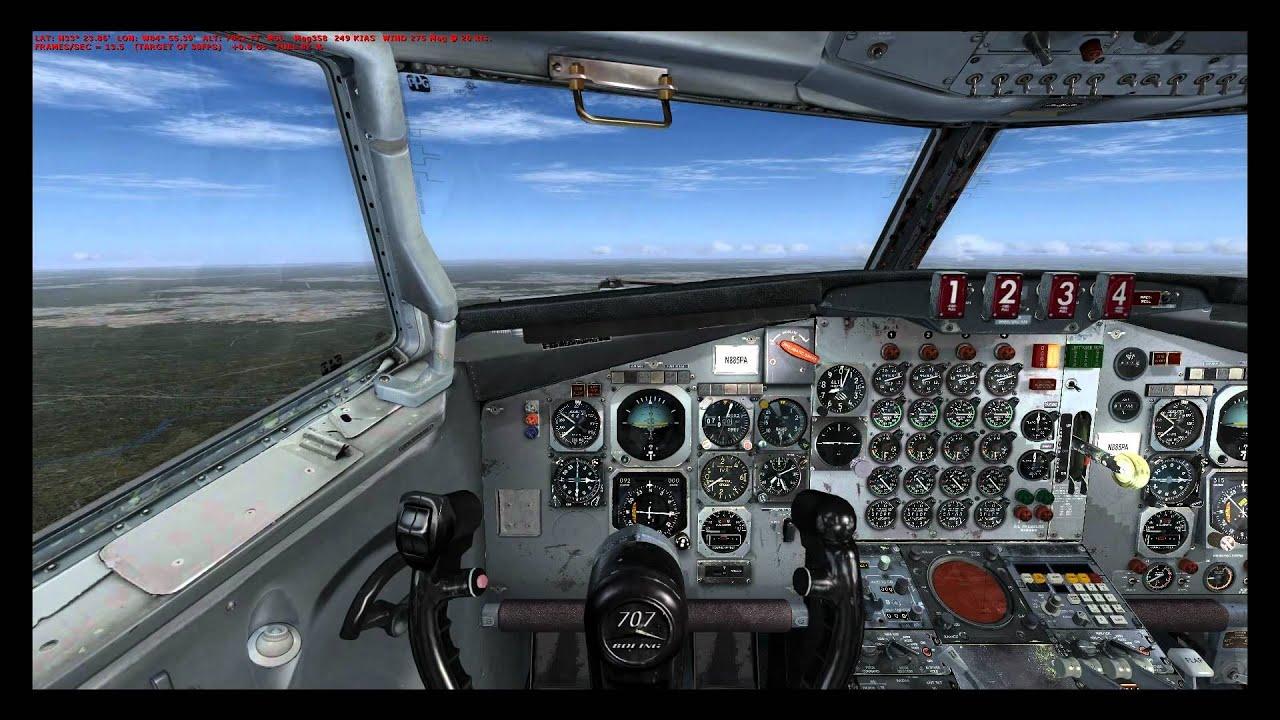Fsx Captainsim 707 Full Tutorial Part Iii Landing