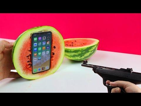 Experiment - Kann eine Wassermelone mein iPhone X schützen?