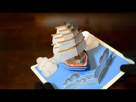pop up card【帆船】 sailing ship