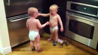 Talking Twin Babies - PART 2 - OFFICIAL VIDEO(Talking Twin Babies - PART 2 - OFFICIAL VIDEO Subscribe to our channel: http://bit.ly/1u8TDJP Twin baby boys have a conversation part 2. find more of the ..., 2011-02-14T16:20:43.000Z)