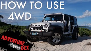 How to use Jeep Wrangler 4wd