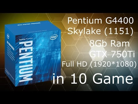 Pentium G4400 in 10 games (Full HD)