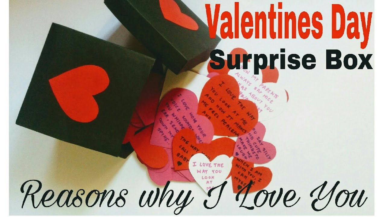 Diy Valentines Day Surprise Box For Boyfriend Husband Reasons Why I Love You Youtube