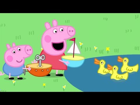 Peppa Pig Full Episodes | The Boat Pond | Cartoons For Children