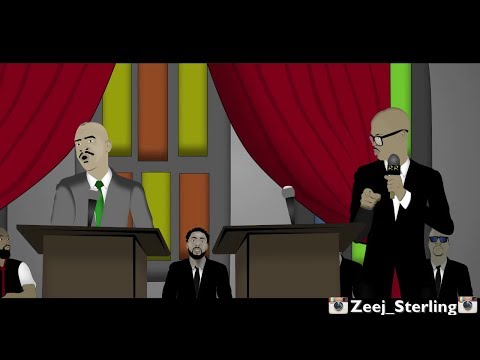 Gino Jennings Ushers Mr Vegas out of God's House [Jamaican Cartoon]