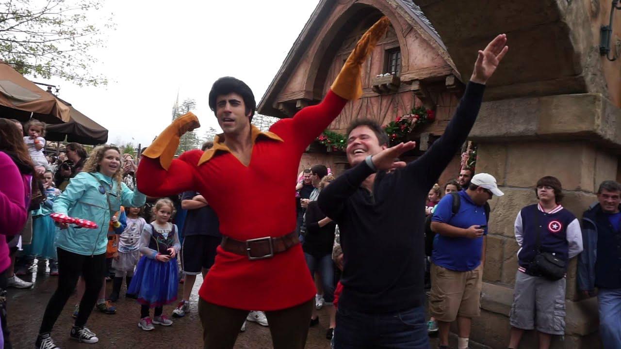 Donny Osmond At Magic Kingdom With Gaston