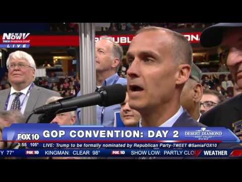 EMOTIONAL: Former Trump Campaign Manager Corey Lewandowski Reads New HampshireRoll Call