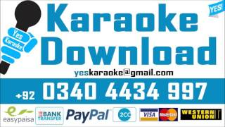 Main tere ajnabi sheher - Karaoke - Mujeeb Alam  - Pakistani Mp3