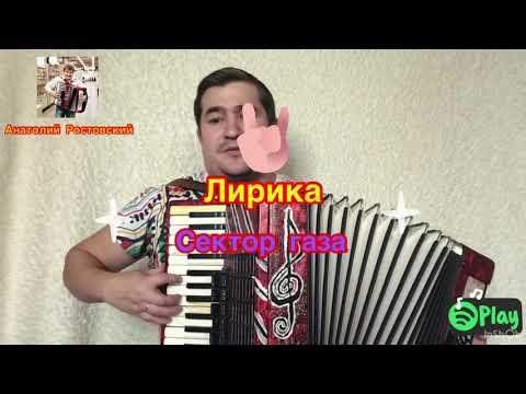 """ЛИРИКА""  Сектор газа.Кавер на баяне"