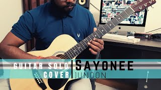 Junoon Band-Sayonee Guitar Solo Cover|The Acoustican Guitar Classes | Online Guitar Classes in India