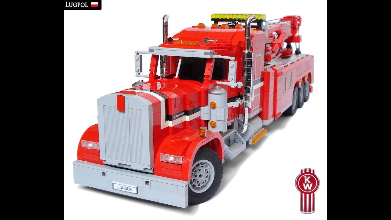 Toy Rotator Tow Truck >> LEGO Motorized Kenworth W900 Rotator - YouTube