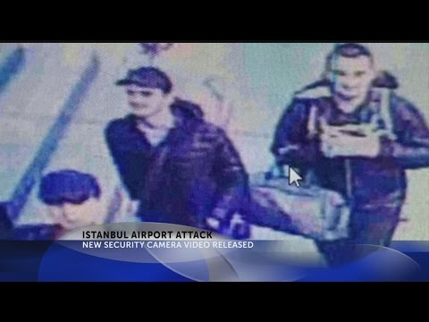 Istanbul airport attack security footage