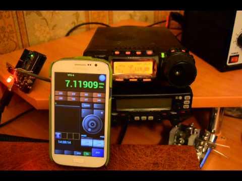 Yaesu FT-857D и антенна ATAS-120 - YouTube