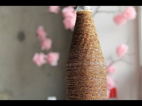 видео: Ваза из бутылки. Декор своими руками