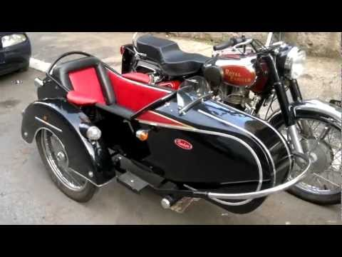 Royal Enfield Bullet 350 with sidecar - YouTube