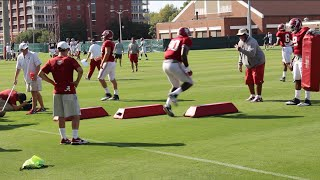 Defensive line preps for Ole Miss