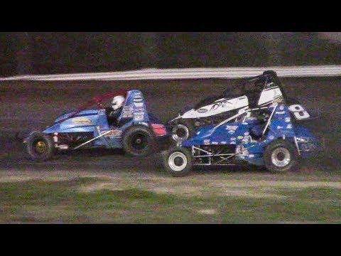 RUSH Sprint Car Feature | Genesee Speedway | 9-16-18
