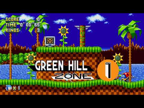 Sonic Mania: 00.27.98 WORLD RECORD Green Hill Act 1