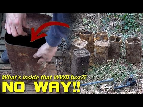 Metal Detecting WW2 - WHAT'S INSIDE?! AMAZING WWII PAPER! 81mm Mortar Ammo Boxes DUMP found!