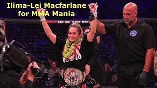 Ilima-Lei Macfarlane Interview Before Alejandra Lara at Bellator 201