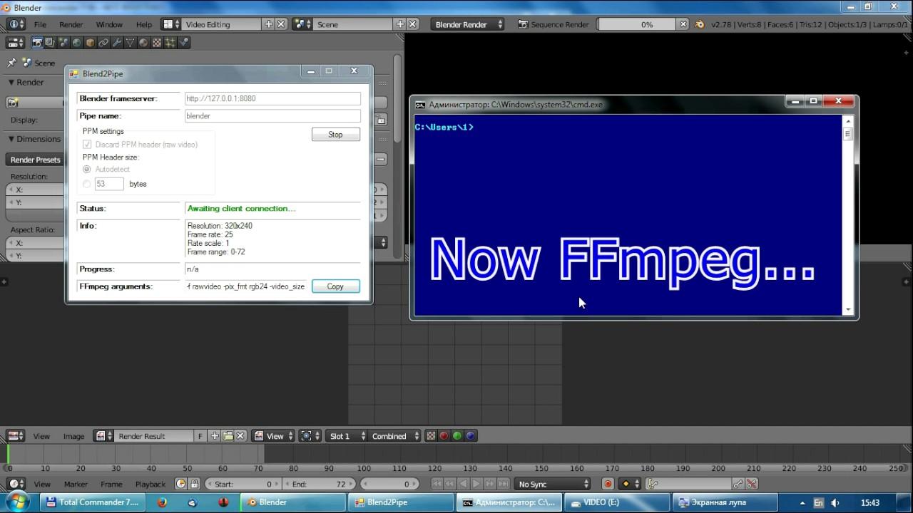 Blender + FFmpeg tutorial (for Windows)
