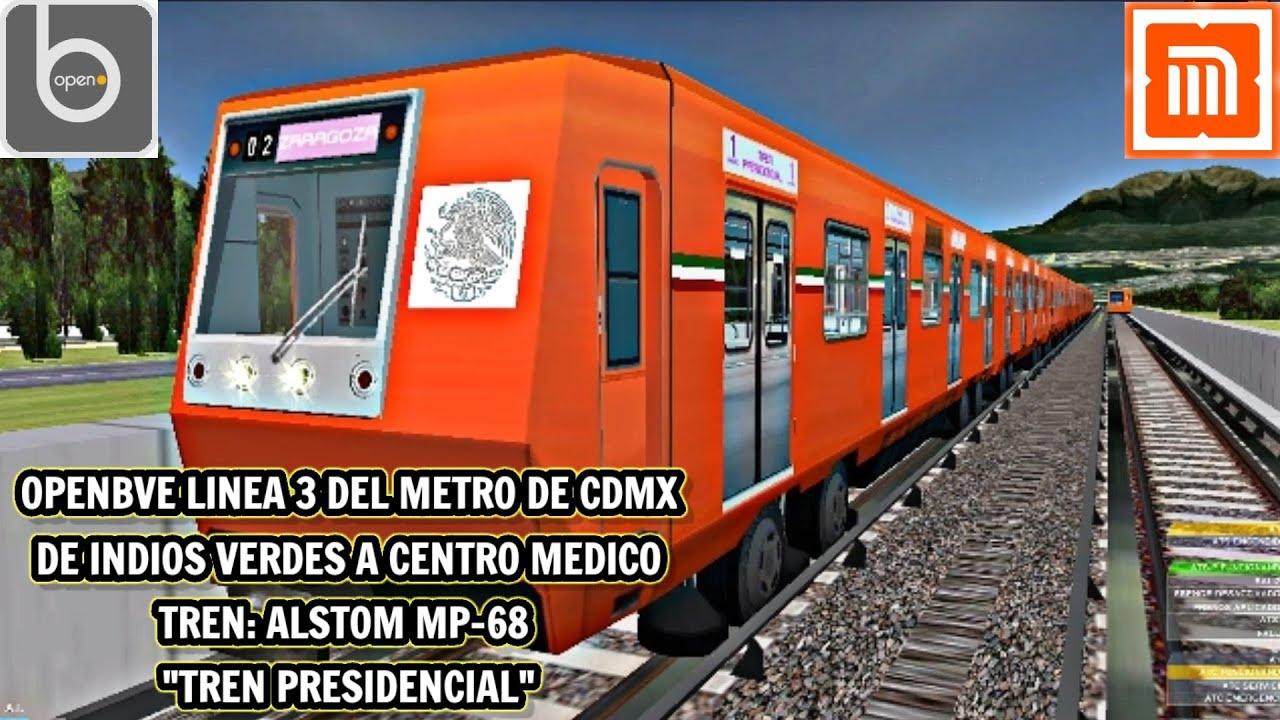 OPENBVE LINEA 3 DEL METRO DE CDMX.