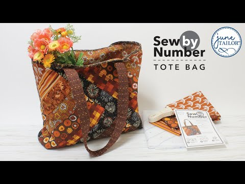 Sew By Number Tote, pattern printed on stabilizer