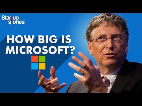 How Big Is Microsoft   Microsoft vs Apple   Net Worth   Bill Gates   Satya Nadella   Startup Stories
