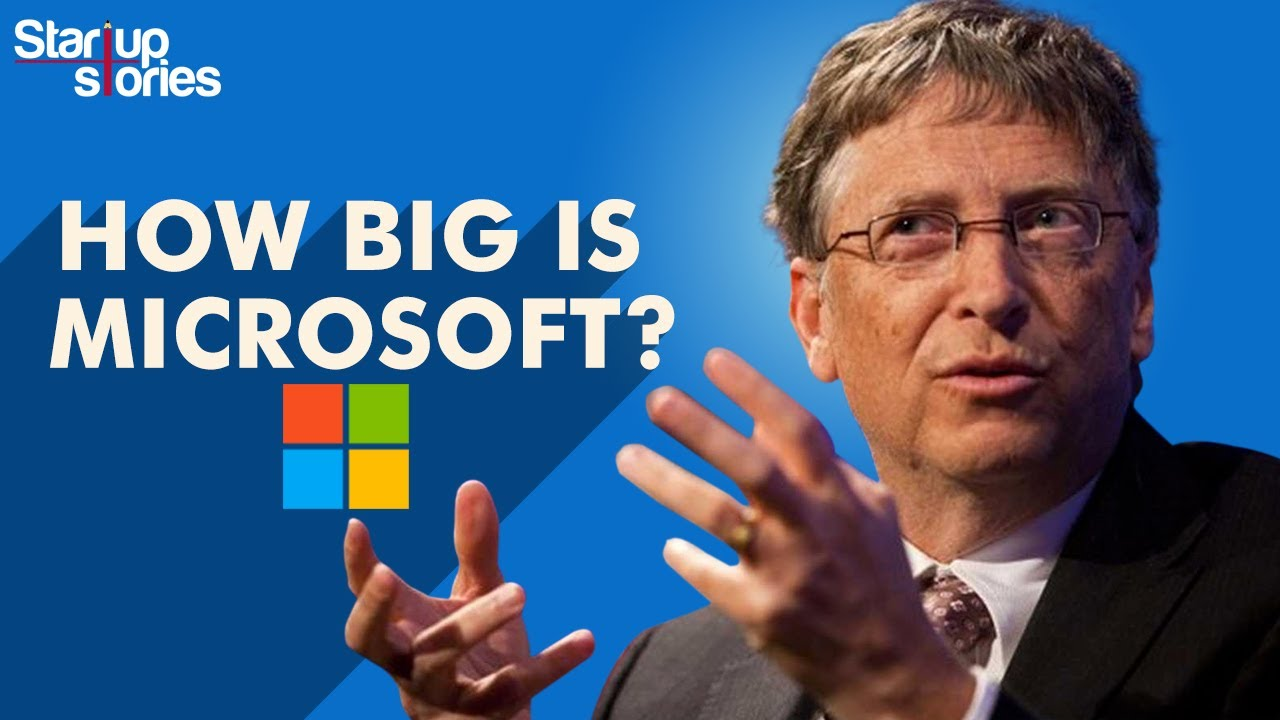 How Big Is Microsoft | Microsoft vs Apple | Net Worth | Bill Gates | Satya Nadella | Startup Stories