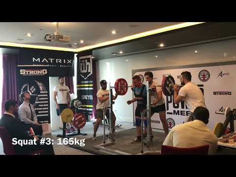 Marcus Flanagan Dubai UAE - 485kg Powerlifting Total @bw81.7kg - All Lifts - 28.09.2018