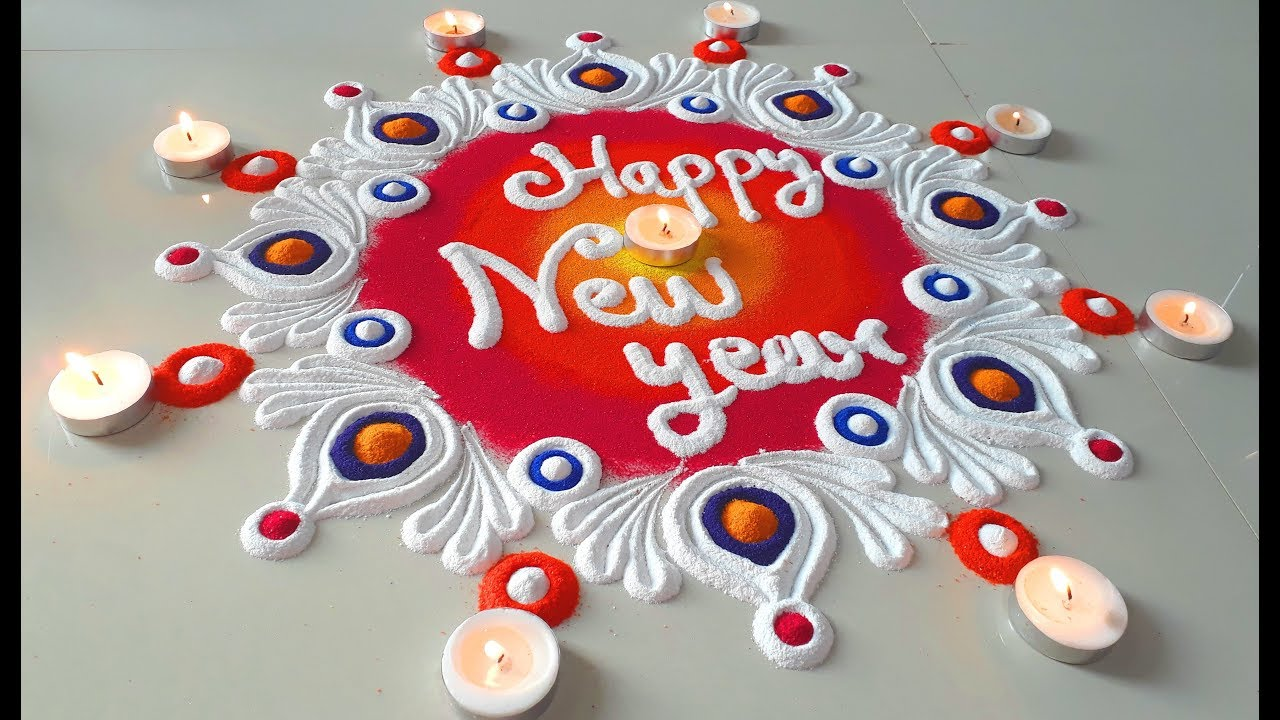 Happy New Year Rangoli 56