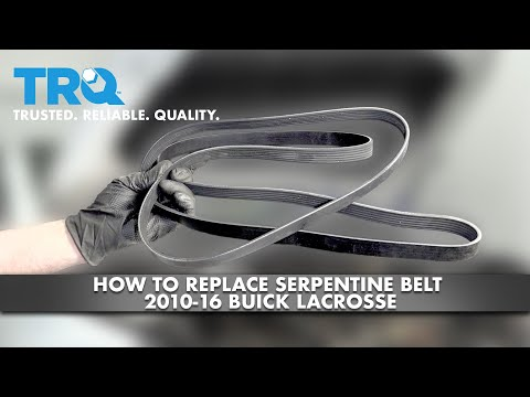 How To Replace Serpentine Belt 2010-16 Buick LaCrosse