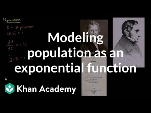 Modeling population as an exponential function | First order differential equations | Khan Academy