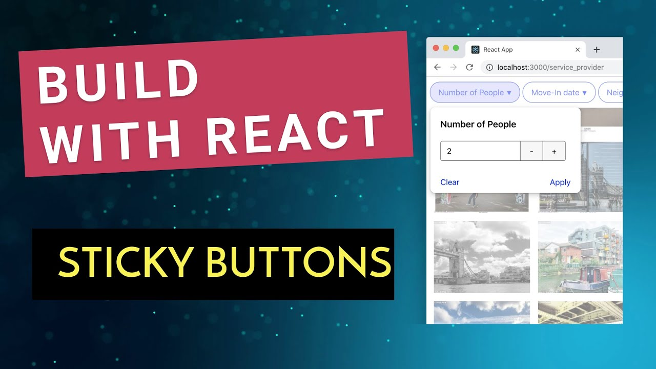Build Sticky Buttons with React - Marcin Mieszek