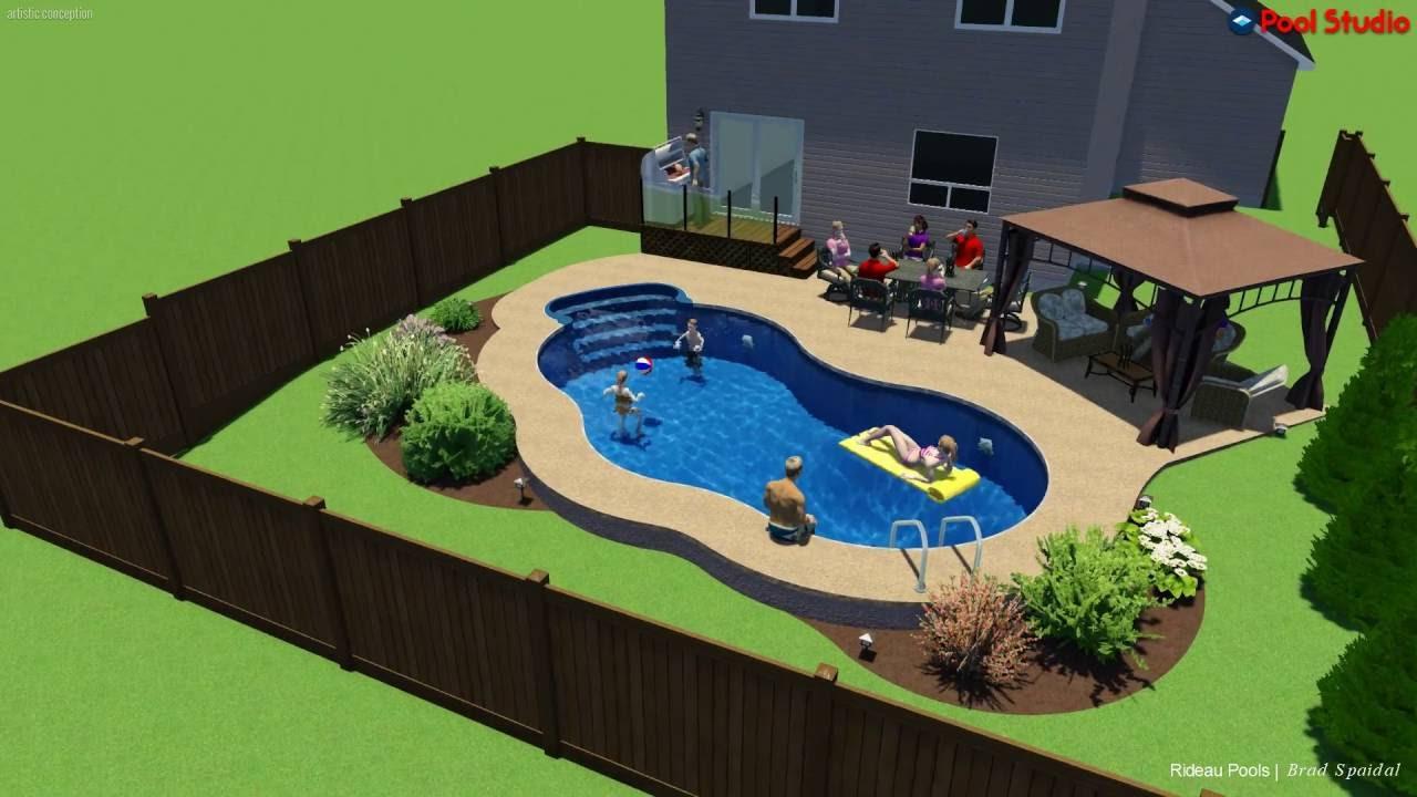 14 x 28 oasis inground pool by rideau pools ottawa youtube for Pool design ottawa