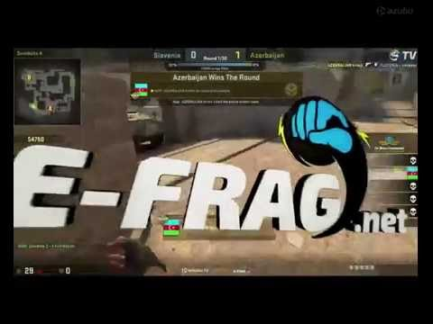 CS:GO Slovenia vs Azerbaijan MAP 1 World Championships 2016