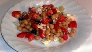 How To Make Garbanzo Beans Salad Recipe